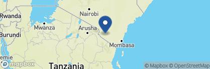 Map of Lions Bluff, Kenya