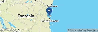 Map of Chumbe Island Lodge, Zanzibar Archipelago