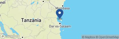 Map of Kilindi, Zanzibar Archipelago