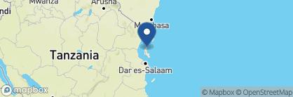 Map of Matemwe, Zanzibar Archipelago