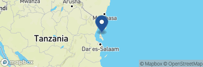 Map of Mnemba Island Lodge, Zanzibar Archipelago