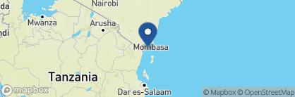 Map of Msambweni Beach House, Kenya