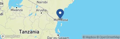 Map of Pinewood Beach Resort & Spa, Kenya