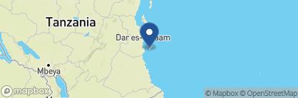 Map of Butiama, Zanzibar Archipelago
