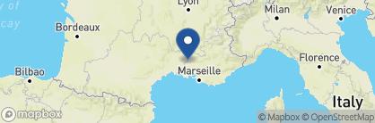 Map of La Mirande, France