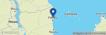 Map of Azura Quilalea Private Island, Mozambique