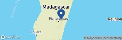 Map of Setam Lodge, Madagascar