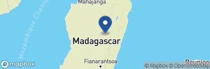 Map of Relais des Plateaux, Madagascar
