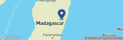 Map of Andasibe Hotel, Madagascar