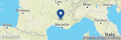 Map of Crillon le Brave, France
