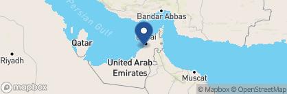 Map of JA Ocean View Hotel, Dubai