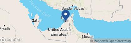Map of Palace Downtown, Dubai