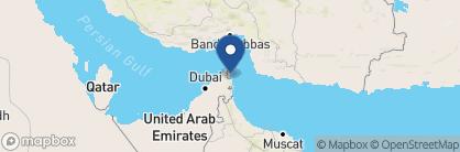 Map of Six Senses Zighy Bay, Oman