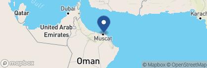 Map of Grand Hyatt, Oman