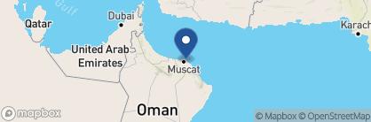 Map of Crowne Plaza, Oman