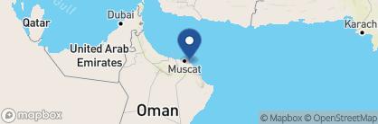 Map of Al Bustan Palace, Oman