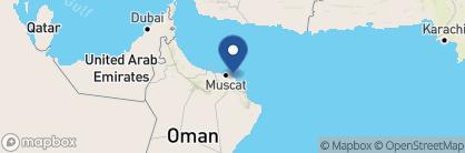 Map of Shangri-La Al Husn Resort & Spa, Oman