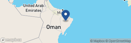 Map of 1000 Nights Desert Camp, Oman