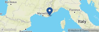 Map of Mas de Chastelas, France