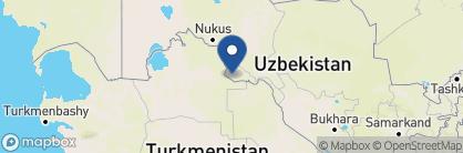 Map of Hotel Malika, Uzbekistan