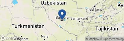 Map of Zargaron Hotel, Uzbekistan
