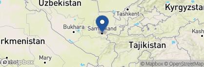 Map of Hotel Malika Prima, Uzbekistan
