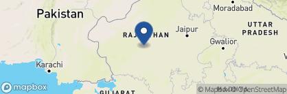 Map of Umaid Bhawan, India