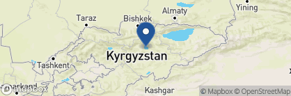 Map of Traditional Yurt on the South Shore, Kyrgyzstan