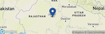 Map of Oberoi Rajvilas, India