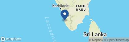 Map of Keralan Houseboats (Rice barges), India