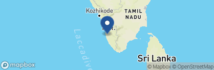 Map of Kumarakom Lake Resort, India
