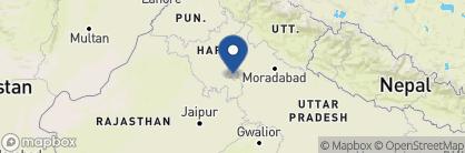 Map of Holiday Inn Aerocity, India