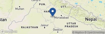 Map of Claridges, India