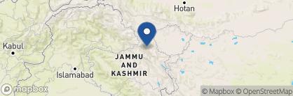 Map of Desert Himalaya, India
