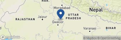 Map of Mela Kothi — Chambal Safari Lodge, India