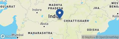 Map of Tiger Corridor, India