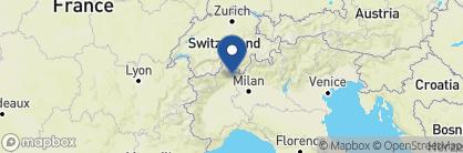 Map of Villa and Palazzo Aminta, Italian Lakes