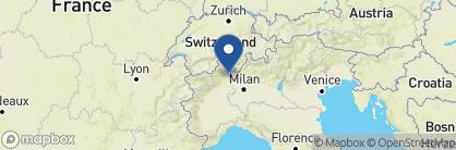 Map of Grand Hotel des Iles Borromees, Italian Lakes
