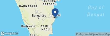 Map of The Leela Palace Chennai, India