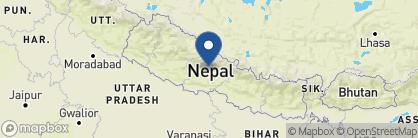 Map of Sanctuary Lodge, Nepal