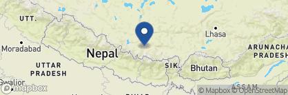 Map of Everest Snow Leopard Guesthouse, Tibet