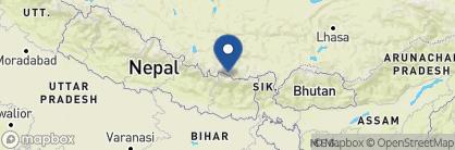 Map of Tea House Lodge, Nepal