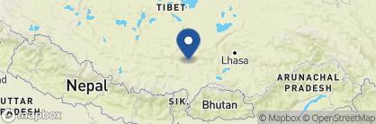 Map of Shigatse Hotel, Tibet
