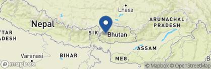Map of Gangtey Palace, Bhutan