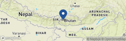 Map of Uma Paro, Bhutan