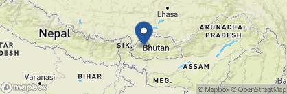Map of Hotel Kisa, Bhutan