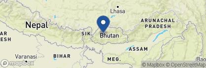 Map of Meri Puensum Resort, Bhutan