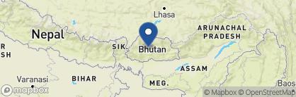 Map of Six Senses Gangtey, Bhutan