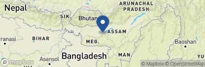 Map of RV Charaidew cruise boat, India