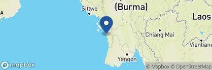 Map of Silver Beach Hotel, Myanmar